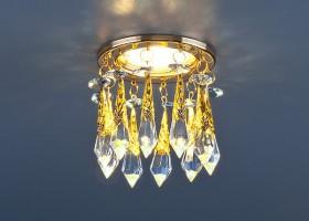 Светильник 2021 MR16 золотопрозрачныйголубой(Strotskis)