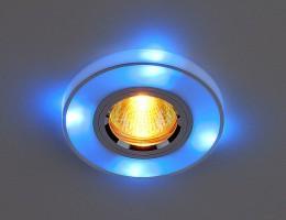 Светильник HS-20702 серебросиняя подсветка (SLBLLED) SC