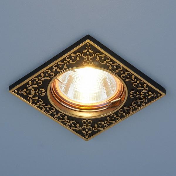 светильник 120071 MR16 черныйзолото