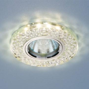 светильник со светодиодной подсветкой 2140 MR16 SL зеркальныйсеребро